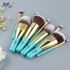 Anmor <b>9PCS Make Up Brushes Travel</b> Friendly Brand Brushes Set ...