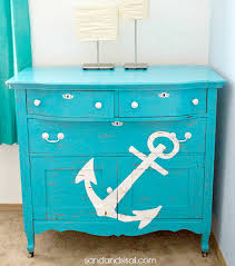 blue painted cabinet nautical bright painted furniture