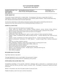 maintenance worker job description sample resume sample resume  maintenance worker job description sample resume