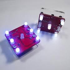 <b>3Pcs</b> Geekcreit® <b>DIY</b> Shaking <b>Yellow LED</b> Dice Kit With Small ...