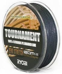Плетёная <b>леска RYOBI PE</b> Tournament 4* 120м 0,092мм