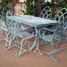 dining sets seater: verdigris rectangular garden dining tables gothic set  seater lifestyle verdigris rectangular garden dining tables