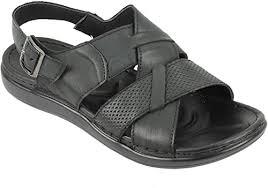 <b>Mens</b> Real Leather <b>Sandals Buckled</b> Strap Back Open Toe <b>Summer</b> ...