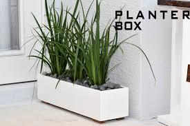 modern planter box  diy build  youtube