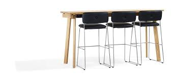 english oak pub table:  high bar table contemporary oak solid wood size by thomas bernstrand bla station