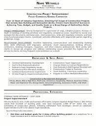 construction superintendent resume   sales   superintendent   lewesmrsample resume  residential construction superintendent resume
