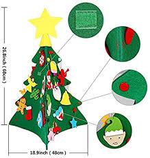 <b>OurWarm</b> 3D <b>DIY</b> Felt <b>Christmas Tree</b>, Toddlers Felt <b>Christmas Tree</b> ...