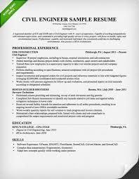 civil engineer resume sample engineering resume examples for students