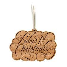 Cardtorial Baby's First Christmas <b>Natural Brown</b> 4 x 3 <b>Laser</b> Cut ...
