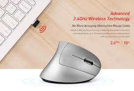 <b>Alfawise WM02</b> 2400DPI Battery Power Ergonomic <b>Vertical Wireless</b> ...