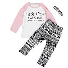 WeiYun <b>3PCS</b>/<b>Set</b> Toddler <b>Baby Kids</b> Girls Outfits <b>Cute</b> Clothes T ...