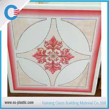 China <b>2017 New Color</b> Design <b>PVC</b> 595*595*7mm Ceiling Tile Hot ...