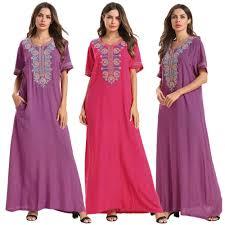 <b>2019</b> Autumn Muslim <b>Women</b> Denim Abaya <b>Long</b> Sleeve Maxi ...