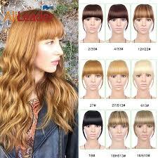 <b>Alileader</b> Short <b>Clip</b> In Hair Bangs Heat Resistant <b>Synthetic Hair</b> ...