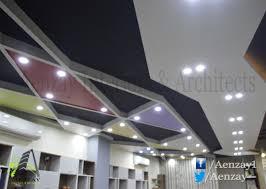 commercial interior aenzay interiors interior design interior design lahore commercial interior ceiling design for office