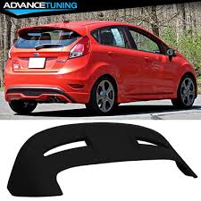Fits <b>11-18 Ford Fiesta</b> Hatchback ST Style Roof Spoiler Matte Black ...