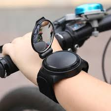 <b>360 Degree Rotate Bicycle</b> Rearview Mirror Safety Riding Wristband ...