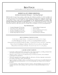 Cover Letter  Hospitality Professional As Assistant Restaurant Manager Or Catering Manager With Key Proficiencies And     Rufoot Resumes  Esay  and Templates