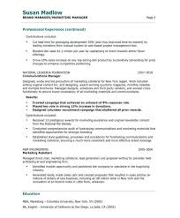marketing manager resume   free resume samples   blue sky resumesold version old version old version