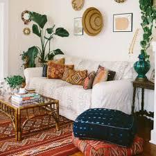 beautiful bohemian coastal living room with playful patterns bohemian style living room