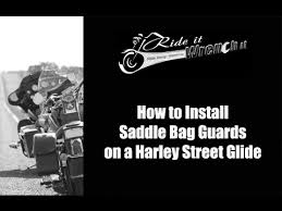 How to Install <b>Saddlebag Guards</b> on a Harley Davidson Street Glide ...