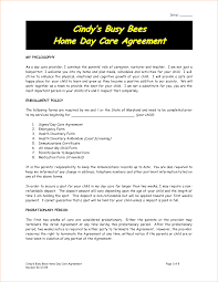 8 daycare contract template timeline template daycare contract sample 2 by nrk14057
