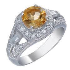 7 MM Round <b>1 CT</b> Citrine Ring .<b>925 Sterling Silver</b> | eBay