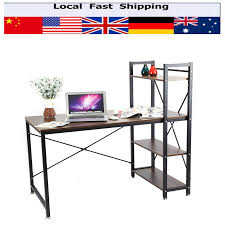 home office study desk corner computer pc table workstation with bookcase shelfchina mainland cheap office workstations