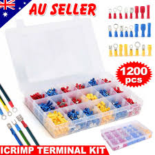1200X Electrical Wire Connectors Assorted Insulated Crimp ...