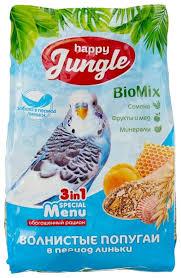 <b>Happy Jungle</b> Корм Special Menu для <b>волнистых</b> попугаев в ...