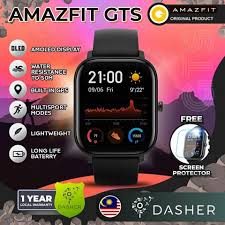 [ENGLISH] <b>Amazfit GTS 1.65 inch</b> AMOLED display 5 ATM Water ...