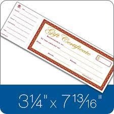 gift certificate book single paper 25 numbered certificates per book