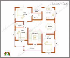 Pleasant Plan Of Two Bedroom Kerala House As Well As Bedroom    Pleasant Plan Of Two Bedroom Kerala House As Well As Bedroom House Plans In Kerala Model Three Bedrooms In