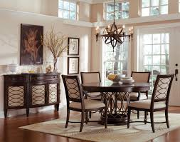 Fabric Chairs For Dining Room Wonderful Brushed Bronze Dining Chandelier Over Wonderful Espresso
