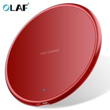 <b>Olaf 10W</b> Round <b>Ultrathin</b> Fast Wireless Charging Pad