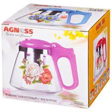 <b>чайник заварочный agness</b> с жестким фильтром из нжс 700 мл
