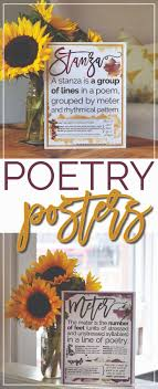 images about ela high school literature high 18 poetry terms posters to brighten up your classroom walls and re inforce students