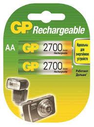 <b>Аккумулятор GP</b> 270AAHC <b>AA</b> NiMH <b>2700</b> мАч, 2 шт — купить в ...