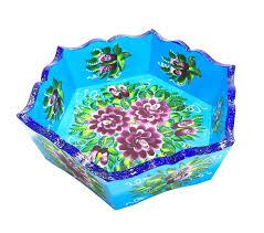 конфетница taowa голубая расписная голубой