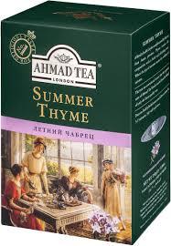 <b>Ahmad Tea Summer</b> Thyme черный листовой <b>чай</b> с чабрецом, 250 г