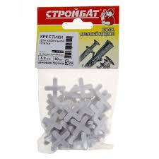 <b>Крестики для кафельной плитки</b>, 5 мм, 60 шт. в Барнауле ...