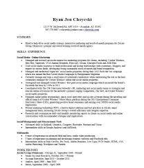 social media manager resume sample social media manager resume social social social media marketing resume sample
