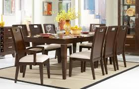casual yellow flower decor on nice vase on casual dining table closed amusing cushioned kitchen chairs amazing dark oak dining