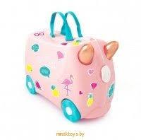 Купить Чемодан на колесиках '<b>Фламинго Флосси</b>' <b>Trunki</b> 0353 ...