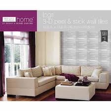stick wall tiles quotxquot: donny osmond home d self adhesive wall tiles logs multicolor