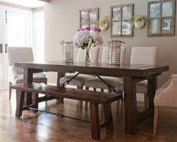 barn kitchen table pottery barn benchwright table photos afdeea  w h b p transitional dining room
