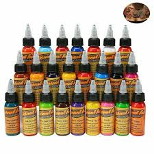 <b>16pcs Colors</b> Eternal Tattoo Ink Set Pigment Bottle Permanent ...