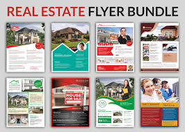 real estate flyer psd templates graphic cloud flyer template property