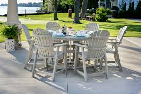 counter height patio furniture with small round patio table and concrete tiles material attractive high dining sets