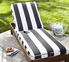 sunbrella piped outdoor chaise cushion stripe pottery barn black patio chair cushions